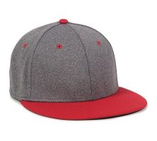 HTH25-Heathered Black/Red-XS/S