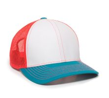 MBW-800SB-White/Neon Red/Teal-Adult