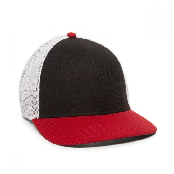 CAGE150-Black/White/Red-One Size Fits Most
