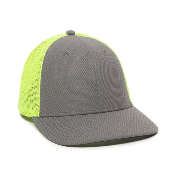 CAGE150-Charcoal/Neon Yellow-One Size Fits Most
