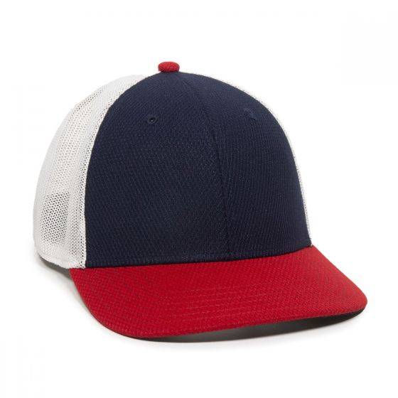 CAGE150-Navy/White/Red-One Size Fits Most
