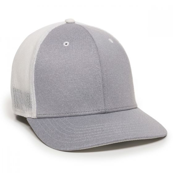 CT120M-Heathered Grey/White-M/L