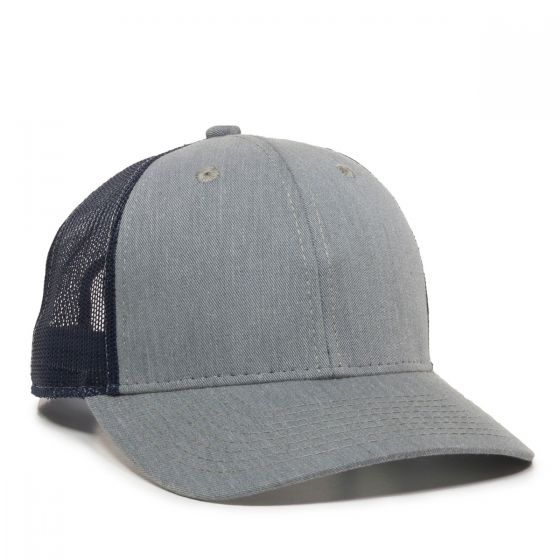 MBW-800SB-Heathered Grey/Navy-Adult
