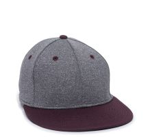 HTH25-Heathered Black/Maroon-S/M