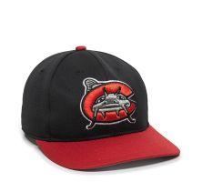 MIN-350-Carolina Mudcats™ Black/Red 2CMH-Adult