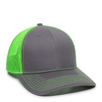 OC771-Charcoal/Neon Green-One Size Fits Most