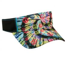 FPV-100-Tie Dyed Peace Signs/Black-Adult