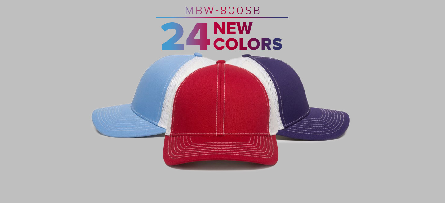 MBW-800SB New Colors, 24 in all!