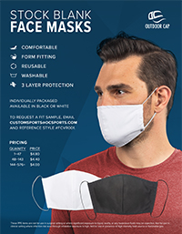 Stock Blank Face Masks Flyer