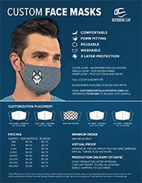 Custom Face Masks Flyer