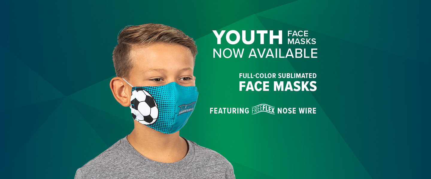 Youth Face Masks Now Available